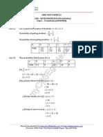 12 Mathematics Probability Test Paper 03 Answer 3sr1