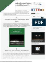 10 Grandes Libros Sobre Fotografía Que No Pueden Faltar en Tu Biblioteca _ Quesa