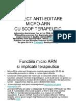 Proiect Anti-editare Micro-Arn 3