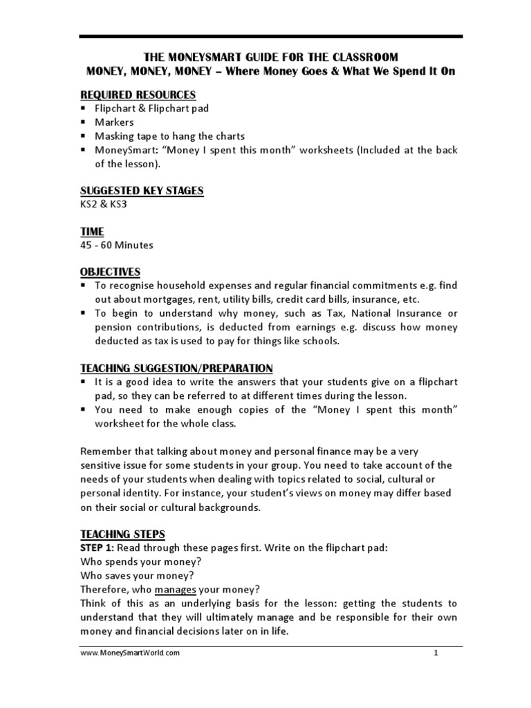 Worksheets How To Manage Your Money Worksheets tpf where money goes personal finance mortgage loan