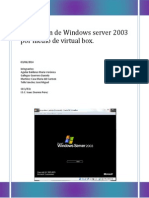 Instalación de Windows Server 2003 Por Medio de Virtual Box