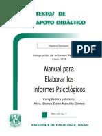 Manual Para Elaborar Los Informes Psicologicos UNAM