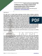 Development of Efficient Color Image Compression Technique using Modified JPEG 2000 Standard