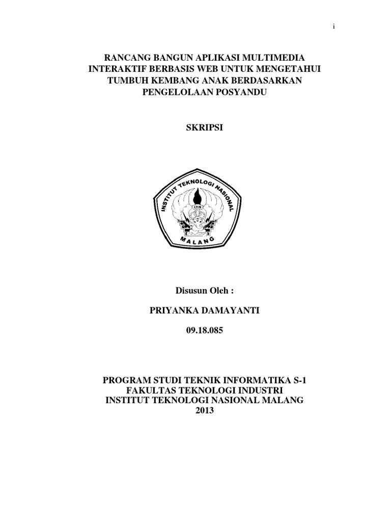 Laporan Skripsi Teknik Informatika
