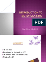 introduction to motorola 6800