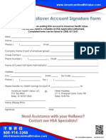 HSA Rollover Form