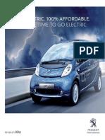 Peugeot IOn Range Brochure