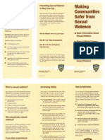 Making Communities Safer From Sexual Violance