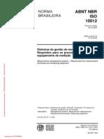 NBR ISO 10012 - 2004 - Sistema de Gestao de Medicao
