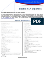 Eligible HSA Expenses
