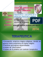 Adauto Quispe G. K Terapeutica y Asclepio Medicina Pretecnica Griega