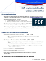 HSAs for FSA Groups