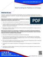 HSA Funding for Partners & S-Corps