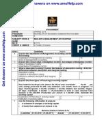 BBA402 Management Accounting De
