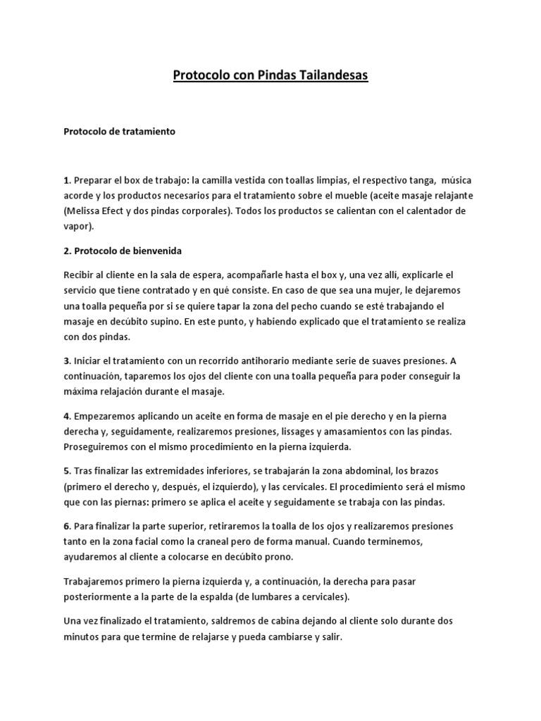 Documentación Técnica Ficha 020 - Protocolo Con Pindas Tailandesas