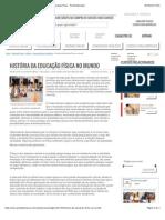 História Da Educação Física No Mundo - Artigos de Educação Física - Portal Educação