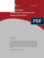 Discussion Paper Change of Use Charge