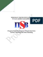 Pedoman Teknis Penulisan Tugas Akhir Pwk