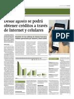 Desde Agosto Se Podrá Obtener Créditos Por Internet y Celulares_Gestión 5-06-2014