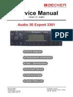 Becker-mercedes Audio30 Export 3301