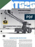 Data Sheet - Grove RT525 (25 Tons)