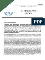 Current Situation and Outlook of El Nino/La Nina