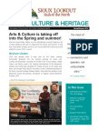 Municipal Arts, Culture & Heritage Newsletter - Spring & Summer 2014