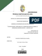 Clasificación y Análisis de La Cobertura Vegetal
