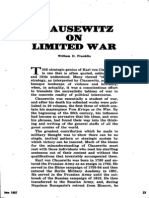 William D. Franklin -- Clausewitz On Limited War