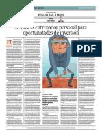 Entrenador Personal Para Oportunidades de Inversión_El Comercio 5-06-2014