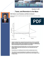 Death, Taxes and Reversion to the Mean - ROIC Study