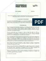 Proyecto de Resolución Conductores Mercancias Peligrosas