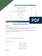 Evaluación Nacional 2014.Docx Algebra Trigonometria