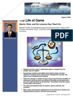 The Life of Game - Sports, Stats, And the Lessons They Teach Us