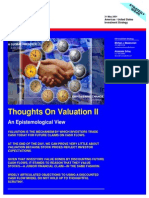 Thoughts on Valuation - Part 2 - An Epistemological View