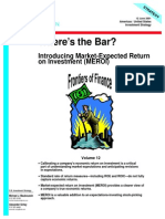 Where's the Bar - Introducing Market-Expected Return on Investment