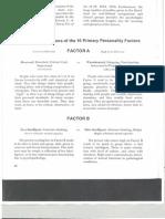 Description of 16 Factors