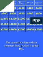 Anatomy - Jeopardy Round 2 Compat