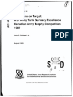 Americans on Target U S Army Tank Gunnery Excellence Canadian Army Trophy Competition USA 1989