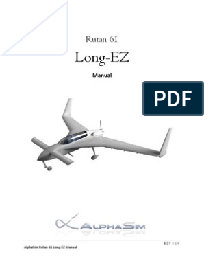 Rutan 61 Long EZ - Manual | Stall (Fluid Mechanics) | Takeoff