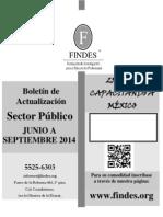 Boletin Sector Publico de Junio a Septiembre Del 2014
