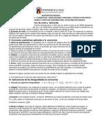 UNISALLE- Taller de Funciones y Aplicaciones a La Economia -2014!1!1