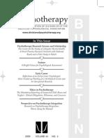 Psychotherapy Bulletin Winter 2009, 44(4)