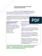 Guidelines for Learning Environment Profile
