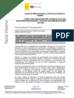 ONDANSETRÓN- PROLONGACIÓN DEL INTERVALO QT DEL  ELECTROCARDIOGRAMA Y NUEVAS RECOMENDACIONES  DE USO