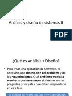 Análisis y Diseño de Sistemas II