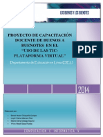 PROYECTO DE CAPACITACIÓN DOCENTE