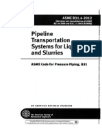 ASME B31.4-12 Pipeline Transportation Systems for Liquid and Slurries