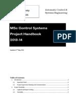 MSc - Project Handbook 2013-14