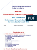 EEG383 Measurement - Chapter 2 - Characteristics of Measuring Instruments
